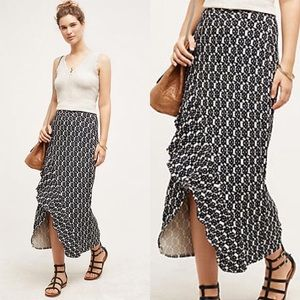 Anthropologie Maeve Printed Tiered Maxi Skirt